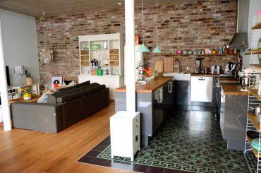Coole Wohnküche Loft